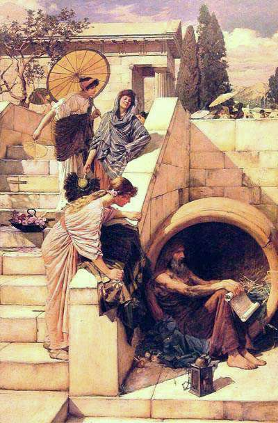 Diogenes in the barrel